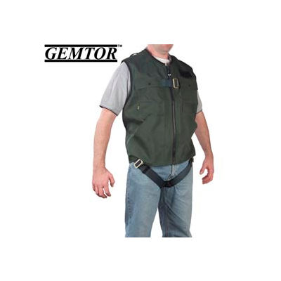 Gemtor 846377-3, Vest Full-Body Harness - Green - CSA - Large
