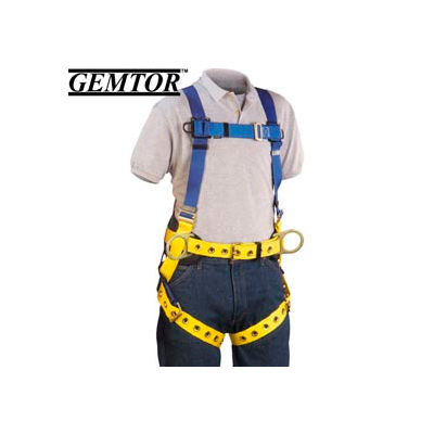 Gemtor 855H-4, Full-Body Harness - Hip D-Rings - XL - Quick Connect Chest