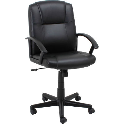 Interion® Basic Manager's Chair - Leather - Black