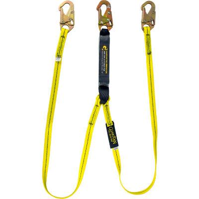 Guardian 01230 6' Double Leg Shock Lanyard Snap Hook