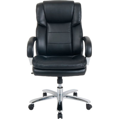 Interion® 24 Hour Big & Tall Leather Executive Chair - Black