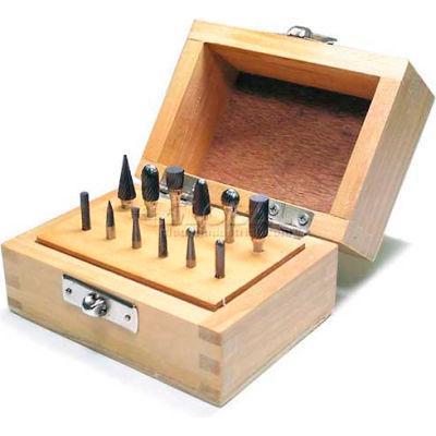 """Grobet Carbide Burr Set 32.926, Standard Cut, 1/8"""" Shank Diameter, 12 Piece Set"""