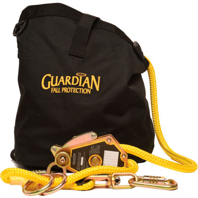 Guardian 04664 Horizontal Temporary Lifeline Kit, 2-Man, 60'