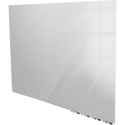 Ghent® Aria 4'W x 3'H Magnetic Glass White Board - Gray