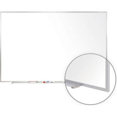 "Ghent 72"" x 48""H Whiteboard with Aluminum Frame - Porcelain - Includes Marker/Eraser - USA Made"