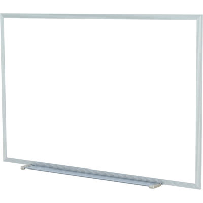 Ghent 4' x 10'  Whiteboard with Aluminum Frame - Steel - Includes Marker/Eraser - USA Made