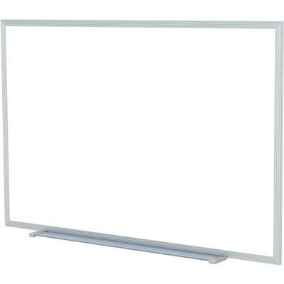 """Ghent 60"""" x 48""""H Whiteboard with Aluminum Frame - Steel - Includes Marker/Eraser - USA Made"""