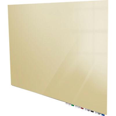 Ghent® Aria 8'W x 4'H Magnetic Glass White Board - Beige