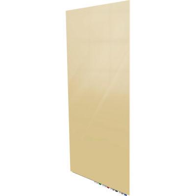 Ghent® Aria 4'W x 8'H Magnetic Glass White Board - Beige