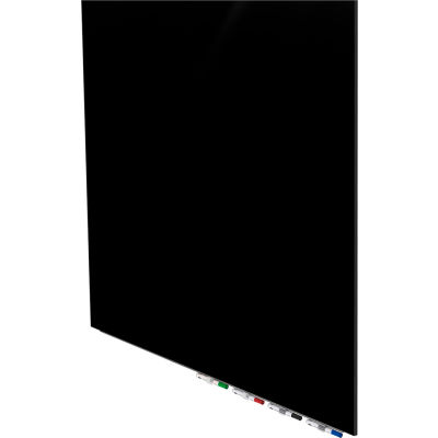 Ghent® Aria 4'W x 4'H Magnetic Glass White Board - Black