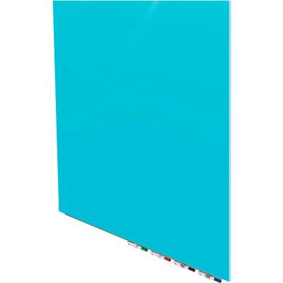 Ghent® Aria 4'W x 4'H Magnetic Glass White Board - Blue