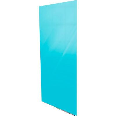 Ghent® Aria 4'W x 6'H Magnetic Glass White Board - Blue