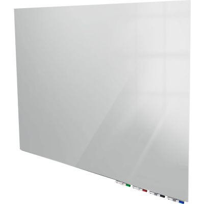 Ghent® Aria 5'W x 4'H Magnetic Glass White Board - Gray