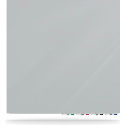 Ghent® Aria 4'W x 4'H Magnetic Glass White Board - Gray