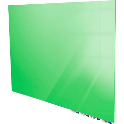 Ghent® Aria 3'W x 2'H Magnetic Glass White Board - Green