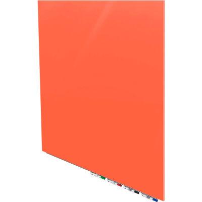 Ghent® Aria 4'W x 4'H Magnetic Glass White Board - Peach