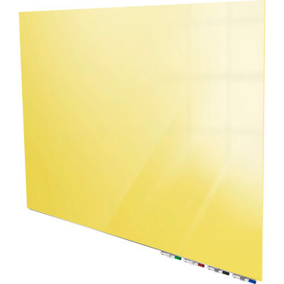 Ghent® Aria 6'W x 4'H Magnetic Glass White Board - Yellow