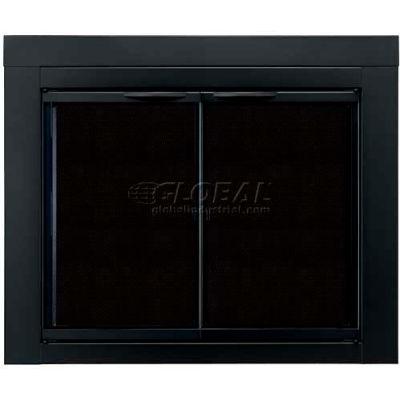 "Pleasant Hearth Alpine Fireplace Glass Door Black AN-1012 43-1/2""L x 33""H"