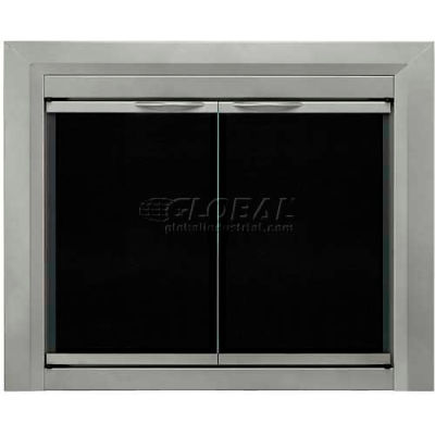 "Pleasant Hearth Colby Fireplace Glass Door Sunlight Nickel CB-3301 37-1/2""L x 33""H"
