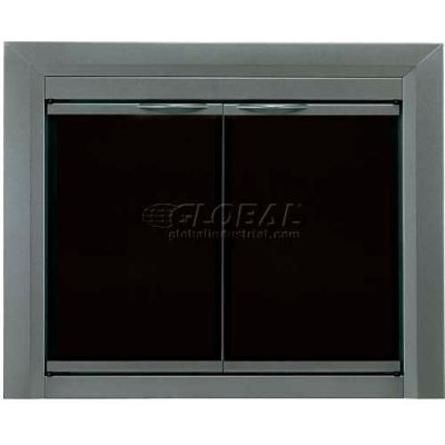 "Pleasant Hearth Craton Fireplace Glass Door Gunmetal CR-3401 37-1/2""L x 33""H"