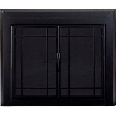 "Pleasant Hearth Easton Fireplace Glass Door Black EA-5010 37-1/2""L x 30""H"
