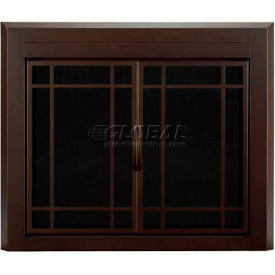 "Pleasant Hearth Enfield Fireplace Glass Door Burnished Bronze EN-5502 43-1/2""L x 33""H"