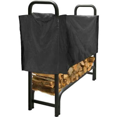 Pleasant Hearth 4' Log Storage Rack Half Cover - Weathered-Resistant Polyester LC6-4SC