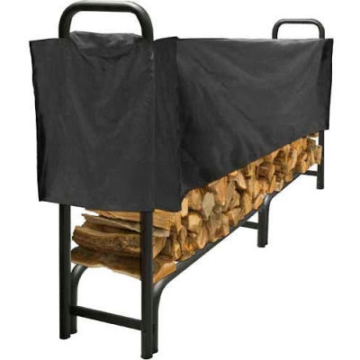 Pleasant Hearth 8' Log Storage Rack Half Cover - Weathered-Resistant Polyester LC6-8SC