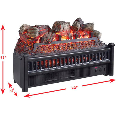 Pleasant Hearth Electric Flame Effect Logs with Heater LH-24