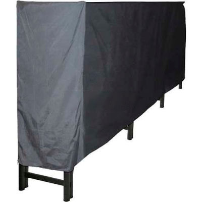 Pleasant Hearth 12' Heavy Duty Log Storage Rack with Full Cover Weather-Resistant LS938-144LC-K