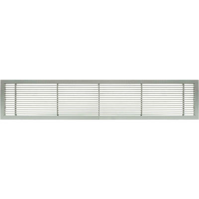"""AG10 Series 6"""" x 12"""" Solid Alum Fixed Bar Supply/Return Air Vent Grille, Brushed Satin"""
