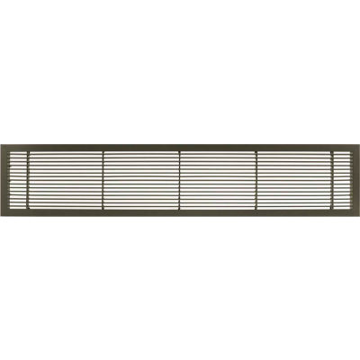 "AG10 Series 6"" x 24"" Solid Alum Fixed Bar Supply/Return Air Vent Grille, Antique Bronze"