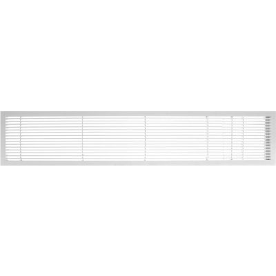 """AG10 Series 6"""" x 48"""" Solid Alum Fixed Bar Supply/Return Air Vent Grille, White-Gloss w/Door"""