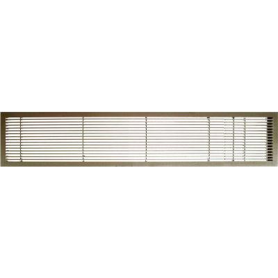 "AG10 Series 6"" x 48"" Solid Alum Fixed Bar Supply/Return Air Vent Grille, Antique Bronze w/Door"