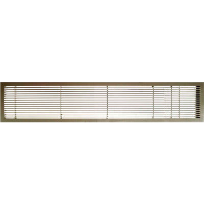 "AG10 Series 6"" x 48"" Solid Alum Fixed Bar Supply/Return Air Vent Grille, Antique Bronze w/Door"