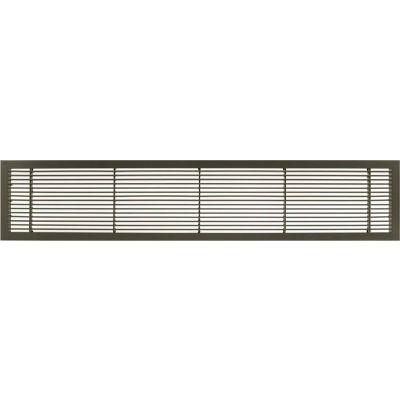 Ag10 Series 2 1 4 X 10 Solid Alum Fixed Bar Supply Return Air Vent Grille Antique Bronze B1651741 Globalindustrial Com