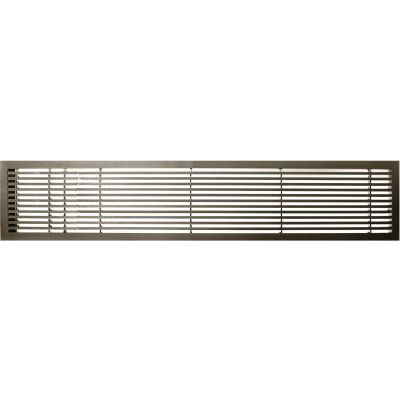 "AG20 Series 4"" x 24"" Solid Alum Fixed Bar Supply/Return Air Vent Grille, Antique Bronze w/Left Door"