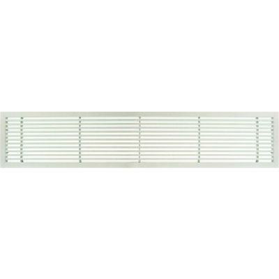 """AG20 Series 6"""" x 30"""" Solid Alum Fixed Bar Supply/Return Air Vent Grille, White-Matte"""