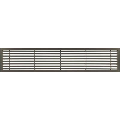 """AG20 Series 6"""" x 42"""" Solid Alum Fixed Bar Supply/Return Air Vent Grille, Antique Bronze"""