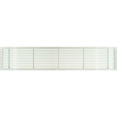 """AG20 Series 6"""" x 48"""" Solid Alum Fixed Bar Supply/Return Air Vent Grille, White-Gloss"""