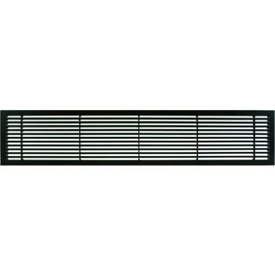 """AG20 Series 6"""" x 48"""" Solid Alum Fixed Bar Supply/Return Air Vent Grille, Black-Matte"""