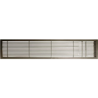"""AG20 Series 6"""" x 48"""" Solid Alum Fixed Bar Supply/Return Air Vent Grille, Antique Bronze w/Right Door"""