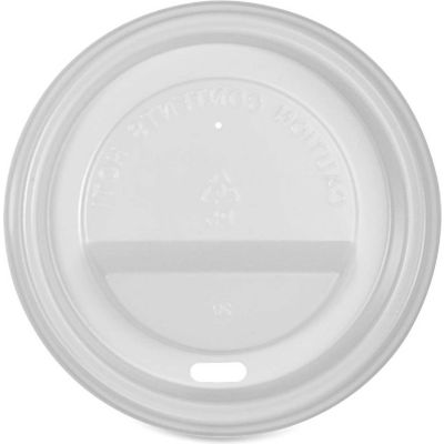 Genuine Joe GJO11259PK - Ripple Hot Cup Lids, 10-16 Oz., 50 Pack, White