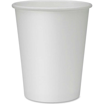Genuine Joe GJO19045PK - Cups, Polyurethane Lined, Disposable 8 Oz., 50/Pack, White