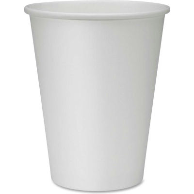 Genuine Joe® Polyurethane-Lined Disposable Cups, 12 Oz., White, 50/Pack