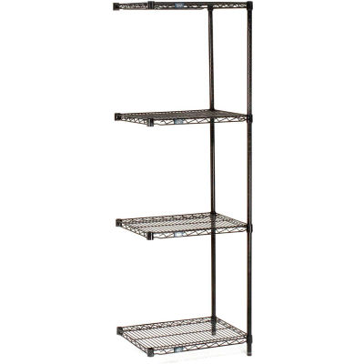 "Nexel® Black Epoxy Wire Shelving Add-On 72""W x 14""D x 54""H"