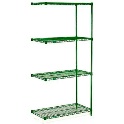 "Nexel® Poly-Green® Wire Shelving Add-On 72""W x 24""D x 54""H"