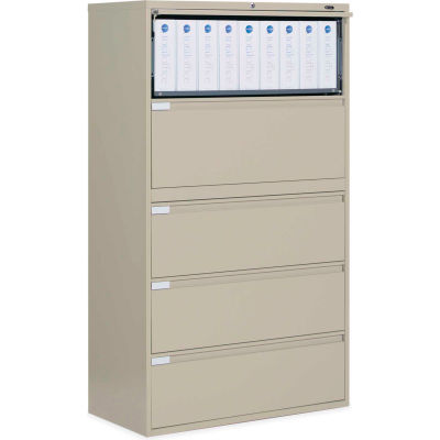 "Global™ 9300 Series 42""W 5 Drawer Binder Lateral File - Putty"