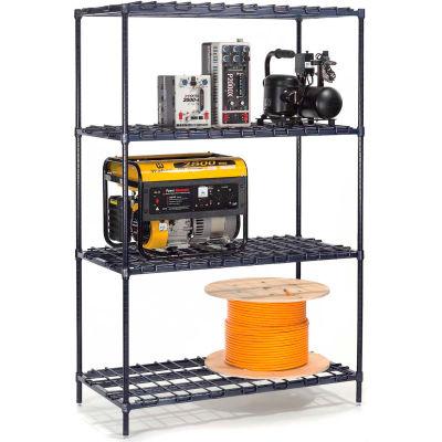 "Nexel® DS24607Z Poly-Z-Brite® Heavy Duty Wire Shelving 60""W x 24""D x 74""H"