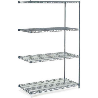 "Nexelon® Wire Shelving Add-On Unit - 5 Tier - 48""W x 18""D x 63""H"